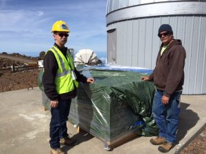 APM mount #1 was successfully delivered to Haleakala on Monday, thanks to the fantastic IFA staff.